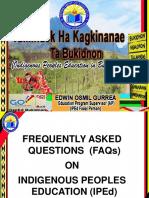 IPED FAQs