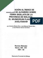Aportación al índice de marcas de alfarero sobre terra sigillata en la provincia de Málaga