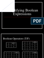 Simplifying Boolean Expressions