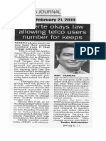 Peoples Journal, Feb. 21, 2019, Duterte okays law allowing telco users number for keeps.pdf