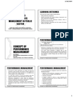 Lecture 6 - Performance Management in Public Sector