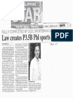Philippine Star, Feb. 21, 2019, Fully completed by 2021 sportsman-solon vows Law creates P3.5B Phl sports training hub.pdf