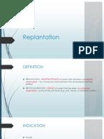 Replantation DFC