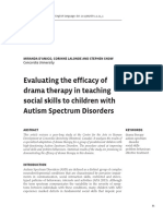 Article - Evaluating the Efficacy of Drama Therapy in Teaching Social Skills to Children With Autism Spectrum Disorders