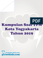 Tpm Kota Jogja 2019 Matematika Paket a Soal