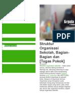 Contoh Tupoksi Struktur Organisasi