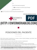ENFERMERÍA BLOG _ Posiciones Del Paciente