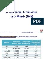 4. Indicadores Económicos de La Minería