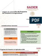 Programa de Fomento a La Agricultura