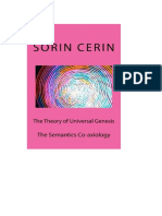 The Theory of Universal Genesis- The Semantics Co-axiology by Sorin Cerin