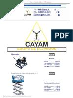 Renta de Plataforma de Tijera _ CAYAM Maquinaria