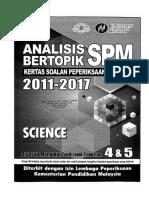 Science Analisis Bertopik SPM 2011-2017