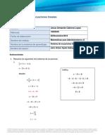 Ejemplo de Ecuaciones Lineales