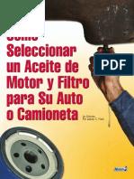 Como Seleccionar Un Aceite de Motor y Filtro Para Su Auto o Camioneta - Noria
