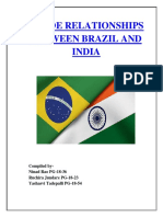 Trade Relationships Between India and Brazil