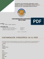 Contaminacion Atmosferica en El Peru