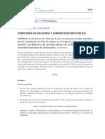 ORDEN de 15 de febrero de 2019 por la que se convocan pruebas selectivas para la constitución de listas de espera en el Grupo II Categoría Bombero/a Forestal Coordinador/a de personal laboral de la Administración de la Comunidad Autónoma de Extremadura