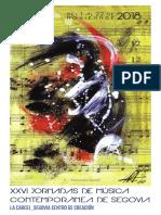 Jor18. XXVI Jornadas Música Contemporánea. Folleto