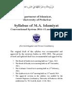 Syllabus of M.a. Islamiyat