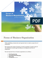 Forms of Business Organization (Indian Context)