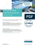 Achilles Practices Certification From Siemens