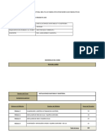 ESTRUCTURA DEL CURSO Instalaciones Sanitarias y Gasfiteria