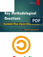 11 Key Methodological Questions