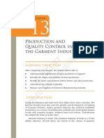 Production and Quality Control in the Garment Industry