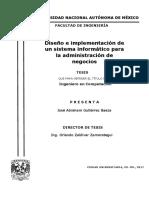 Sistema Informático Para La Administración de Negocios