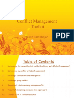 Conflict Management a Simple Tool Kit