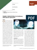 PlatEMO a MATLAB Platform for Evolutionary Multi-Objective Optimization