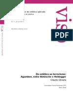 OLIVEIRA, Cláudio - Da estética ao terrorismo- Agamben, entre Nietzsche e Heidegger.pdf