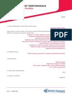 DoP M100 Gypframe Metal Profiles