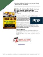 Baixar Livro Online Livro de Receitas Low Carb Receitas Deliciosas de Dieta Low Carb Melhores Receitas Low Carb Jason Th