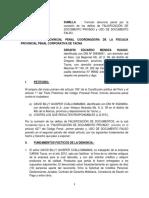 Denuncia Por Falsificacion de Firma /uso de documento falso