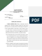 Complaint Affidavit Rape
