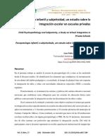 Psicopatología infantil y subjetividad, un estudio sobre la integración escolar en escuelas privadas