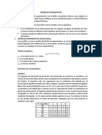 Generalidades. Diseño de Experimentos