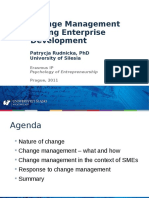 Change Management During Enterprise Development [Patrcja Rudnicka, PhD 2011]