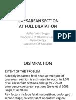 Disimpaction of Fetal Head