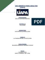 Historia de La Psicología Tarea 3 - UAPA
