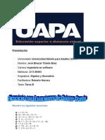 Ejerciciio sobre Ecuaciones de Primer Grado Tarea III.doc