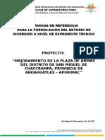 TDR - EXPEDIENTE TECNICO - PLAZA CHACCRAMPA.doc