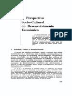 A Perspectiva SOCIO-CULTURAL DO DESENVOLVIMENTO ECONÔMICO