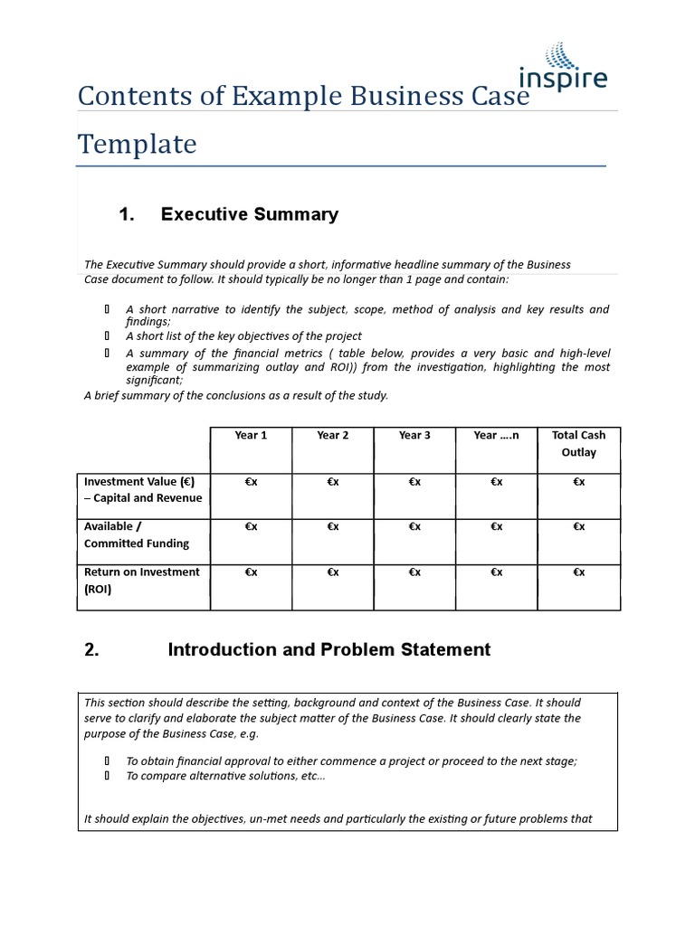 Business Case Template 03 Cost Benefit Analysis Risk