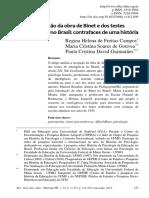 Campos, R.H.F., de Gouvea, M. C. S., & Guimarães, P. C. D. (2014). A recepção da obra de Binet e dos testes psicométricos no Brasil. Rev. Br. de Hist. da Educação,14(2),215-242