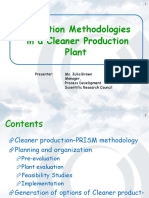 Cleaner Production Methodologies (KULIAH 10)