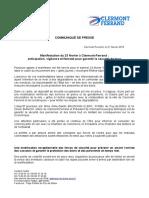Le dispositif sécurité pour l'acte XV des Gilets jaunes le 23 février à Clermont-Ferrand