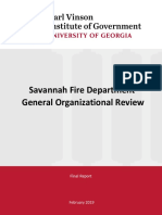 Savannah Fire Department Study
