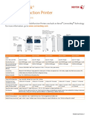 Xerox AltaLink C8000 Specifications PDF | Fax | Image Scanner